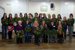 Wreath making, December 2013