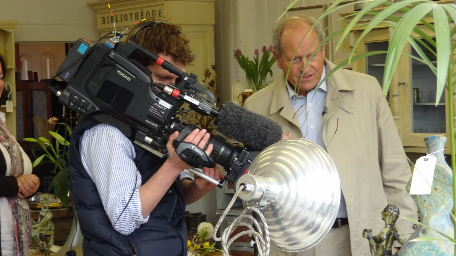 BBC Antiques Roadtrip filming at Kington Antiques on 14th April 2012