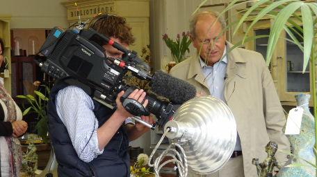 BBC Antiques Roadtrip filming at Kington Antiques on 14th April 2012