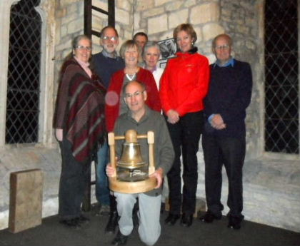 KSM bellringers and trophy
