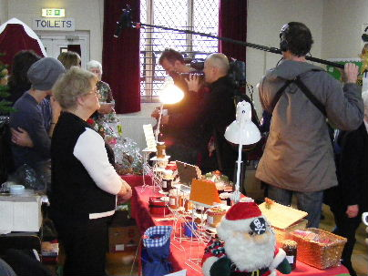 Film crew in action at the Christmas Fayre, 6th December 2009