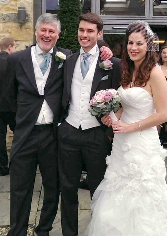 Peter Shaw, Matthew & Emma Balmforth (nee Shaw), 14th September 2013